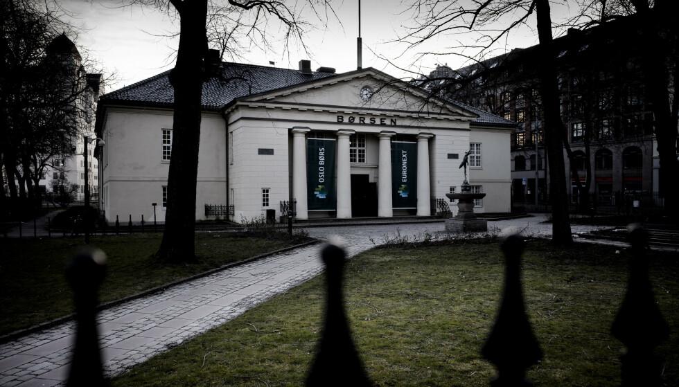 FALLER: Hovedindeksen på Oslo Børs stuper, i likhet med børser verden rundt. Foto: Lars Eivind Bones / Dagbladet