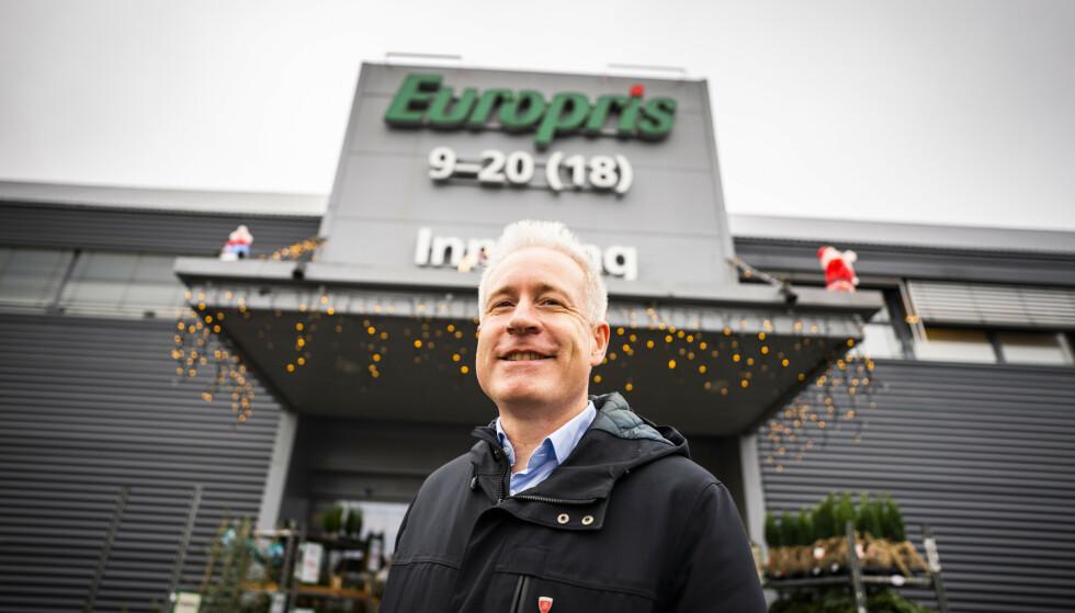 - UTFORDRINGER: Europris-sjef Espen Eldal mener man kan forvente at enkelte varer vil gå opp i pris som følge av situasjonen i det globale fraktmarkedet. Foto: Håkon Mosvold Larsen / NTB