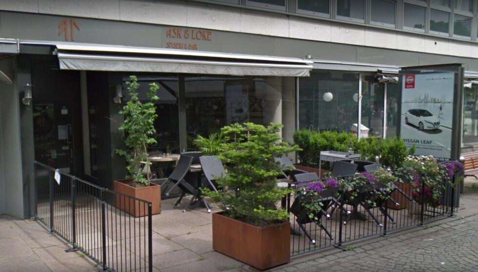 FORLOT STOR REGNING: To kvinner forlot denne restauranten uten å betale etter å ha hygget seg for over 3000 kroner. Foto: Google Maps skjermdump.
