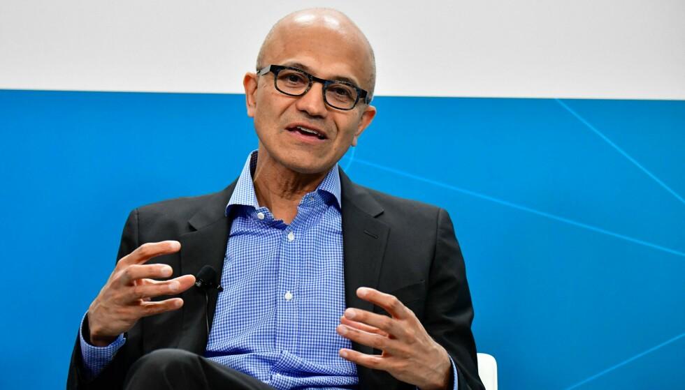 KRAV: Satya Nadella forteller at kravene fra amerikanske myndigheter bare forsvant. Her er Microsoft-sjefen avbildet i 2019. Foto: Tobias SCHWARZ / AFP / NTB