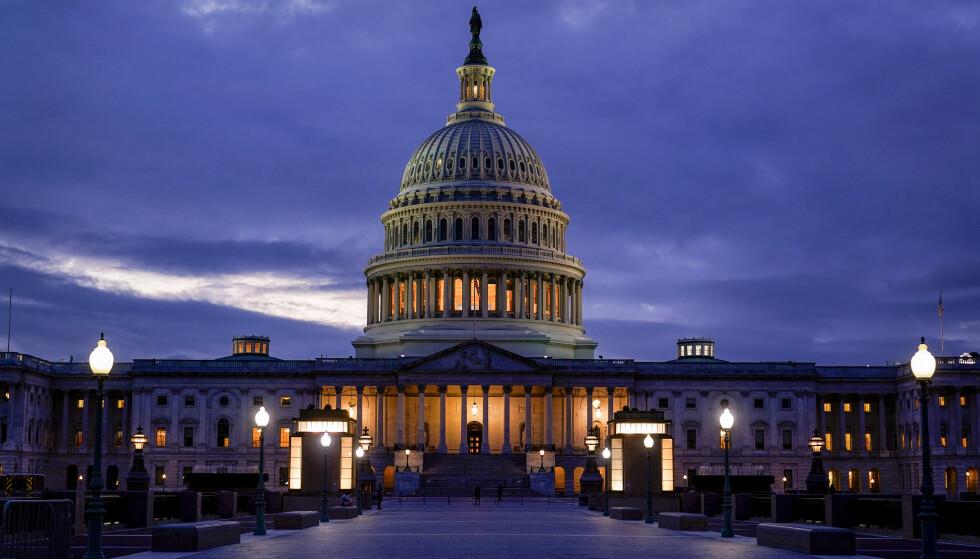 UTSATT: I siste liten gikk republikanerne i Senatet med på at USA fortsatt kan låne penger for å finansiere statlig virksomhet og betjene statsgjelden. Men avtalen gjelder bare i et par måneder. Foto: J. Scott Applewhite / AP / NTB