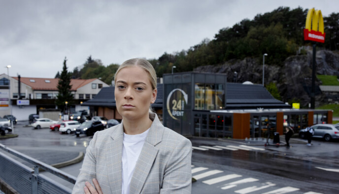 FIKK NOK: Julie Follesø sluttet i protest hos McDonald's Rådalen. Foto: Paul S. Amundsen