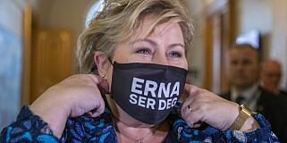 Image: Hardt ut mot Erna: - Urimelig