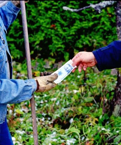 Image: Vil forby lønn i kontanter